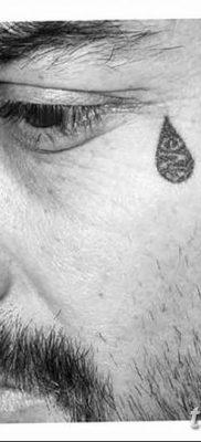 фото тату слеза на щеке от 16.04.2018 №022 – tattoo tear on cheek – tatufoto.com