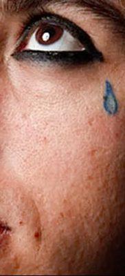 фото тату слеза на щеке от 16.04.2018 №054 – tattoo tear on cheek – tatufoto.com