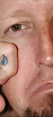 фото тату слеза на щеке от 16.04.2018 №055 – tattoo tear on cheek – tatufoto.com