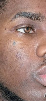 фото тату слеза на щеке от 16.04.2018 №060 – tattoo tear on cheek – tatufoto.com