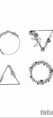 фото тату треугольник и круг от 21.04.2018 №002 – triangle and circle tattoo – tatufoto.com