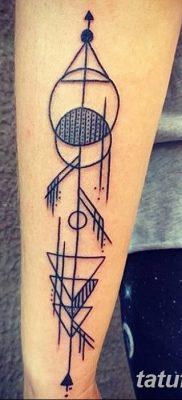 фото тату треугольник и круг от 21.04.2018 №004 – triangle and circle tattoo – tatufoto.com