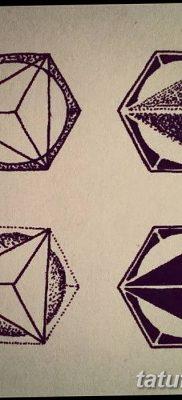 фото тату треугольник и круг от 21.04.2018 №005 – triangle and circle tattoo – tatufoto.com