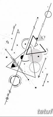 фото тату треугольник и круг от 21.04.2018 №006 – triangle and circle tattoo – tatufoto.com