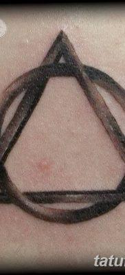 фото тату треугольник и круг от 21.04.2018 №009 – triangle and circle tattoo – tatufoto.com