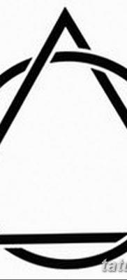 фото тату треугольник и круг от 21.04.2018 №012 – triangle and circle tattoo – tatufoto.com