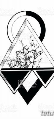 фото тату треугольник и круг от 21.04.2018 №020 – triangle and circle tattoo – tatufoto.com