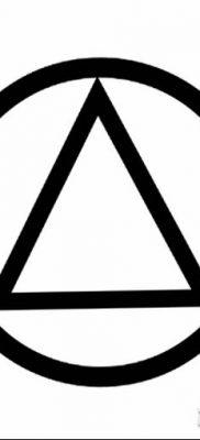 фото тату треугольник и круг от 21.04.2018 №025 – triangle and circle tattoo – tatufoto.com