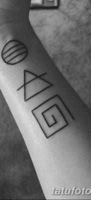 фото тату треугольник и круг от 21.04.2018 №031 – triangle and circle tattoo – tatufoto.com