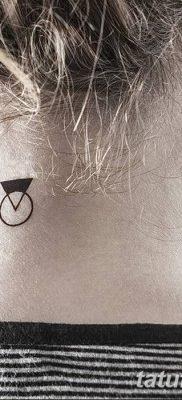 фото тату треугольник и круг от 21.04.2018 №037 – triangle and circle tattoo – tatufoto.com