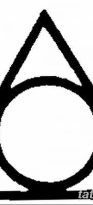 фото тату треугольник и круг от 21.04.2018 №043 – triangle and circle tattoo – tatufoto.com