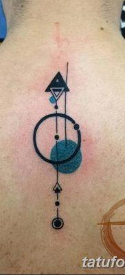 фото тату треугольник и круг от 21.04.2018 №046 – triangle and circle tattoo – tatufoto.com