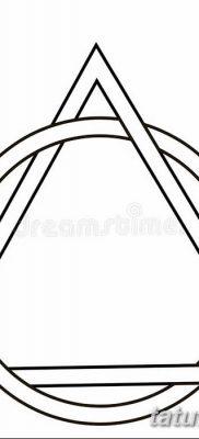 фото тату треугольник и круг от 21.04.2018 №048 – triangle and circle tattoo – tatufoto.com