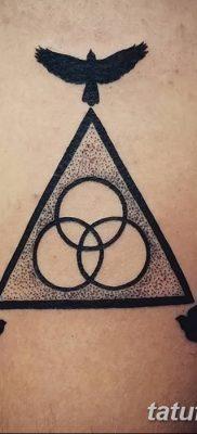 фото тату треугольник и круг от 21.04.2018 №054 – triangle and circle tattoo – tatufoto.com