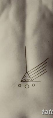 фото тату треугольник и круг от 21.04.2018 №058 – triangle and circle tattoo – tatufoto.com