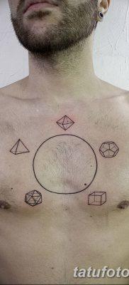 фото тату треугольник и круг от 21.04.2018 №059 – triangle and circle tattoo – tatufoto.com