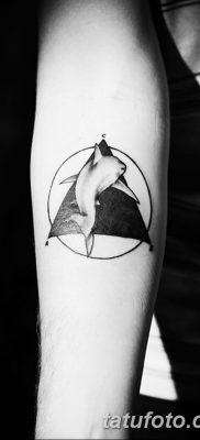 фото тату треугольник и круг от 21.04.2018 №060 – triangle and circle tattoo – tatufoto.com