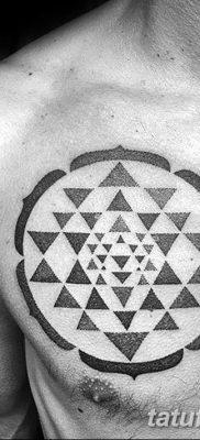 фото тату треугольник и круг от 21.04.2018 №063 – triangle and circle tattoo – tatufoto.com