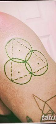 фото тату треугольник и круг от 21.04.2018 №065 – triangle and circle tattoo – tatufoto.com