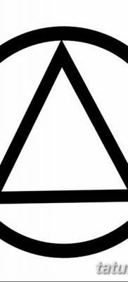 фото тату треугольник и круг от 21.04.2018 №067 – triangle and circle tattoo – tatufoto.com