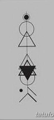 фото тату треугольник и круг от 21.04.2018 №070 – triangle and circle tattoo – tatufoto.com