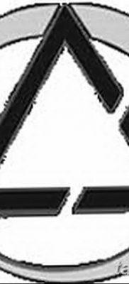 фото тату треугольник и круг от 21.04.2018 №074 – triangle and circle tattoo – tatufoto.com
