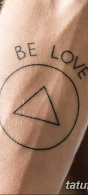 фото тату треугольник и круг от 21.04.2018 №077 – triangle and circle tattoo – tatufoto.com