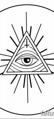 фото тату треугольник и круг от 21.04.2018 №079 – triangle and circle tattoo – tatufoto.com