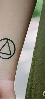 фото тату треугольник и круг от 21.04.2018 №083 – triangle and circle tattoo – tatufoto.com