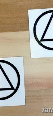 фото тату треугольник и круг от 21.04.2018 №084 – triangle and circle tattoo – tatufoto.com