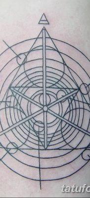 фото тату треугольник и круг от 21.04.2018 №086 – triangle and circle tattoo – tatufoto.com