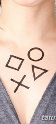 фото тату треугольник и круг от 21.04.2018 №090 – triangle and circle tattoo – tatufoto.com