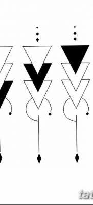 фото тату треугольник с линией от 16.04.2018 №003 – triangle tattoo with line – tatufoto.com