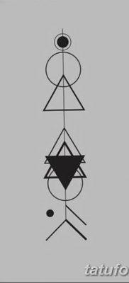 фото тату треугольник с линией от 16.04.2018 №007 – triangle tattoo with line – tatufoto.com