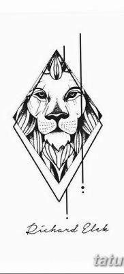 фото тату треугольник с линией от 16.04.2018 №008 – triangle tattoo with line – tatufoto.com