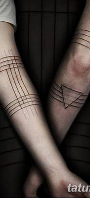 фото тату треугольник с линией от 16.04.2018 №010 – triangle tattoo with line – tatufoto.com