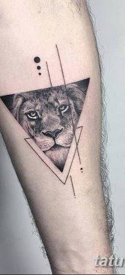 фото тату треугольник с линией от 16.04.2018 №016 – triangle tattoo with line – tatufoto.com