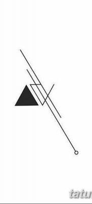 фото тату треугольник с линией от 16.04.2018 №017 – triangle tattoo with line – tatufoto.com