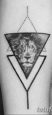 фото тату треугольник с линией от 16.04.2018 №031 – triangle tattoo with line – tatufoto.com