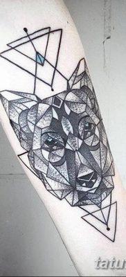 фото тату треугольник с линией от 16.04.2018 №033 – triangle tattoo with line – tatufoto.com