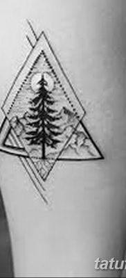фото тату треугольник с линией от 16.04.2018 №036 – triangle tattoo with line – tatufoto.com