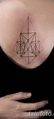 фото тату треугольник с линией от 16.04.2018 №037 – triangle tattoo with line – tatufoto.com