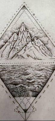 фото тату треугольник с линией от 16.04.2018 №038 – triangle tattoo with line – tatufoto.com