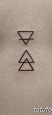 фото тату треугольник с линией от 16.04.2018 №043 – triangle tattoo with line – tatufoto.com