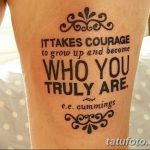 фото тату цитаты от 18.04.2018 №035 - quote tattoos - tatufoto.com