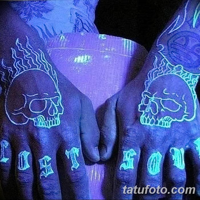 фото ультрафиолетовые тату от 21.04.2018 №056 - ultraviolet tattoo - tatufoto.com