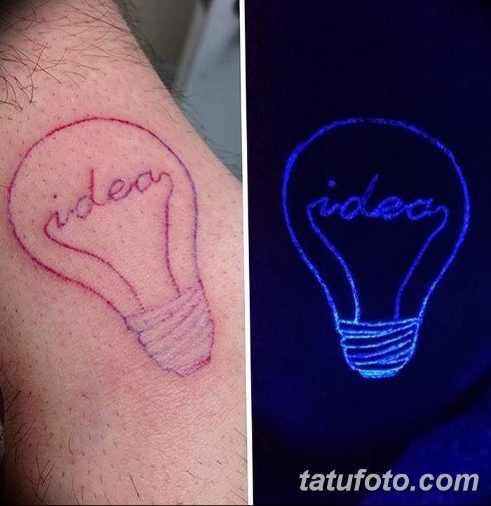фото ультрафиолетовые тату от 21.04.2018 №086 - ultraviolet tattoo - tatufoto.com