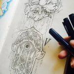 фото эскизы тату амулеты от 30.04.2018 №108 - sketches of tattoo amulets - tatufoto.com