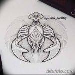 фото эскиз тату скорпион от 24.04.2018 №010 - sketch of a scorpion tattoo - tatufoto.com
