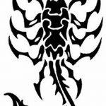 фото эскиз тату скорпион от 24.04.2018 №015 - sketch of a scorpion tattoo - tatufoto.com